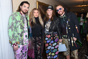 Adam Lambert, Fergie, Robin Antin and Brett Alan Nelson attend the Libertine Fall 2019 Runway Show at Ebell of Los Angeles on April 26, 2019 in Los Angeles, California.