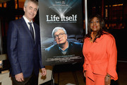 Director Steve James and Chaz Ebert attend the 'Life Itself' New York Premiere  After Party at The Film Society of Lincoln Center on June 23, 2014 in New York City.