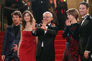 "Elio Germano, Stefania Montorsi, Director Daniele Luchetti, Alina Berzenteanu and Raul Bova  attend the ""Our Life"" Premiere at the Palais des Festivals during the 63rd Annual Cannes Film Festival on May 20, 2010 in Cannes, France."