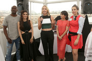 "Actor B.J. Britt, actress Shiri Appleby, Lifetime Head of Programming Liz Gateley, actress Constance Zimmer and Co-Creator/executicve producer Sarah Gertrude Shapiro attend the Lifetime ""UnREAL"" Group Date and Champagne Brunch Aboard Dandeana Yacht With Cast and Executive Producers In Celebration of Season Two Premiere on June 5, 2016 in Marina del Rey, California."