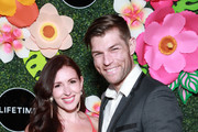 Erin Hasan (L) and Liam McIntyre attend Lifetime's Summer Luau at W Los Angeles - Westwood on May 20, 2019 in Los Angeles, California.