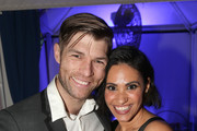 Liam McIntyre and Tiffany Smith attend the Lifetime Summer Luau on May 20, 2019 in Los Angeles, California.