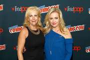 """Paula Hart and Melissa Joan Hart attend Lifetime's """"The Watcher In The Woods"""" Panel With Melissa Joan Hart And Paula Hart At New York Comic Con 2017 on October 5, 2017 in New York City."""