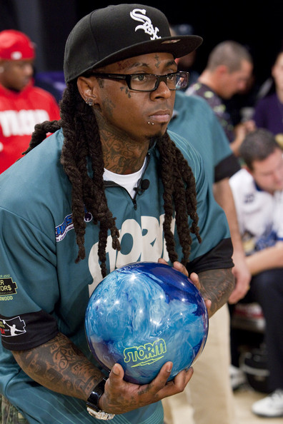 Lil Wayne bowls in the PBA Chris Paul Celebrity Bowling Invitational at