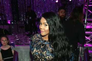 Lil Kim Arrivals at the Elton John AIDS Foundation Oscars Viewing Party — Part 2
