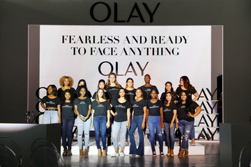 Lilly Singh Olay's 'Face Anything' New York Fashion Week Make-Up Free Runway Show