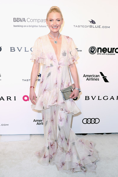 25th Annual Elton John AIDS Foundation's Oscar Viewing Party - Arrivals [clothing,fashion,hairstyle,pink,shoulder,footwear,fashion model,dress,red carpet,fashion design,arrivals,sayn wittgenstein berleburg,lilly zu,west hollywood park,california,the city,elton john aids foundation,oscar viewing party,academy awards viewing party]