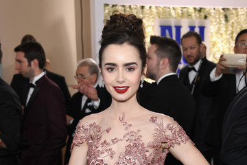 Lily Collins FIJI Water at the 74th Annual Golden Globe Awards