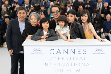 Lily Franky 'Shoplifters (Manbiki Kazoku)' Photocall - The 71st Annual Cannes Film Festival