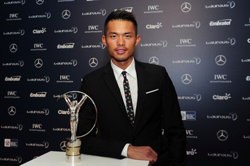 Lin Dan Arrivals - 2013 Laureus World Sports Awards
