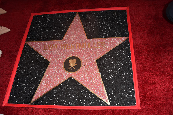 Lina Wertmuller Honored With A Star On The Hollywood Walk Of Fame [lina wertmuller honored with a star on the hollywood walk of fame,pattern,floor,star,lina wertmuller,hollywood,california,the hollywood walk of fame,star,ceremony]