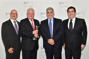 (L-R) Marc Scorca, Marc Stern, Jose Placido Domingo and Alvaro Maurizio Domingo attend Lincoln Center Hall Of Fame Gala at the Alice Tully Hall on June 6, 2017 in New York City.