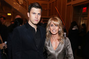 Colin Jost and Bonnie Hammer attend the Lincoln Center American Songbook Gala honoring Bonnie Hammer at Broadway Theatre on January 29, 2020 in New York City.