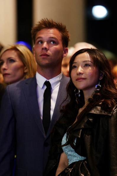 Lincoln Lewis Lincoln Lewis and Zhu Lin arrive at the Sydney screening of '33 Postcards' at Dendy Opera Quays Cinema on June 9, 2011 in Sydney, Australia.
