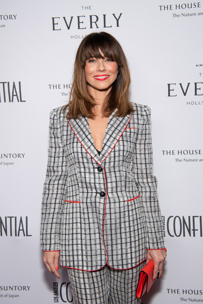 Los Angeles Confidential Magazine Celebrates The Emmys With Linda Cardellini [clothing,outerwear,hairstyle,premiere,long hair,pattern,bangs,fashion design,fashion model,brown hair,linda cardellini,emmys,los angeles,california,kimpton everly hotel,los angeles confidential magazine celebrates the emmys,los angeles confidential magazine]