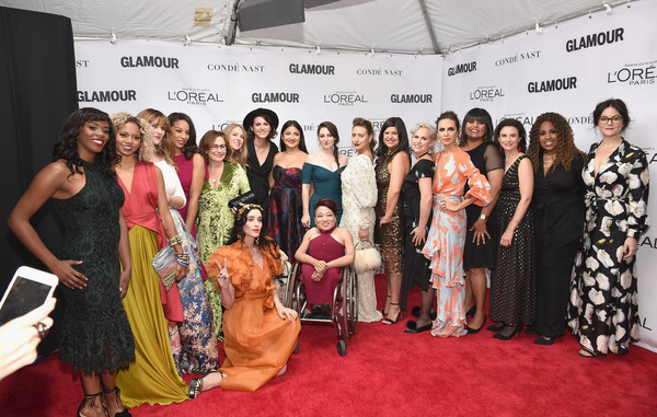Glamour Celebrates 2017 Women of the Year Awards - Arrivals [red carpet,carpet,event,beauty,fashion,flooring,premiere,fashion design,dress,fashion accessory,arrivals,the womens march organizers,brooklyn,new york,kings theatre,glamour,glamour celebrates 2017 women of the year awards,women of the year awards]