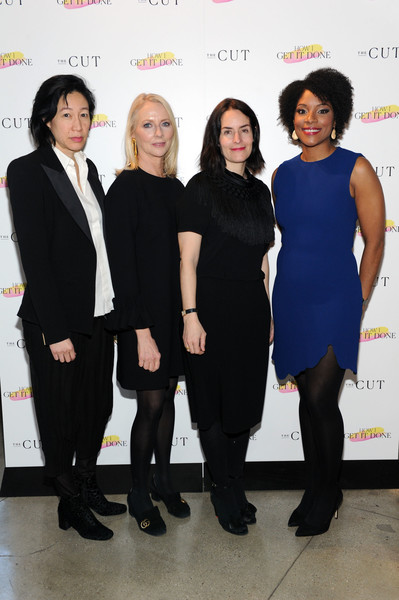The Cut's How I Get It Done Event In NYC [the cut,how i get it done,event,fashion,white-collar worker,little black dress,premiere,dress,formal wear,fashion design,karen wong,zerlina maxwell,linda wells,stella bugbee,neuehouse,new york city,event]