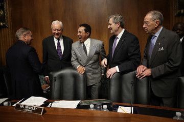 Lindsey Graham Smokey Robinson Testifies To Senate Committee On Protecting Musicians Rights