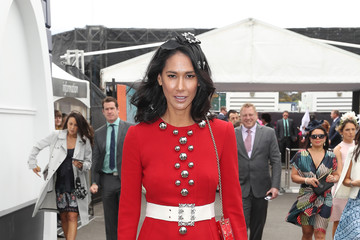Lindy Klim Celebrities Attend Melbourne Cup Day