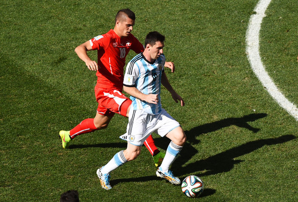 Lionel Messi Granit Xhaka Photos Argentina v Switzerland 2 of 3