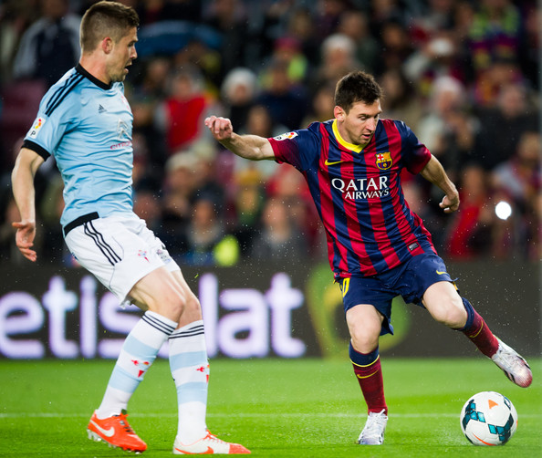 Celta Vigo Vs Barcelona Direct: Lionel Messi Andreu Fontas Photos