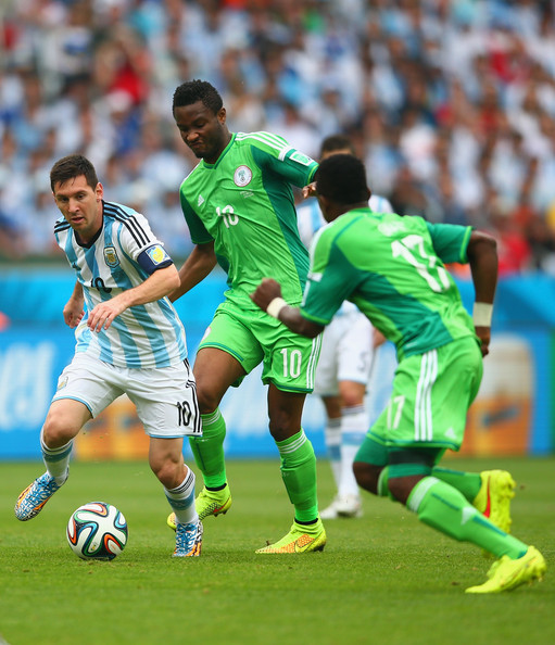 Image result for Mikel with Messi