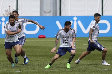Lionel Messi Argentina Training Session - FIFA World Cup Russia 2018