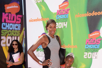 Lisa Leslie Arrivals at the Nickelodeon Kids' Choice Sports Awards
