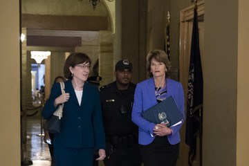 Lisa Murkowski Senators Await FBI Report On Supreme Court Nominee Brett Kavanaugh