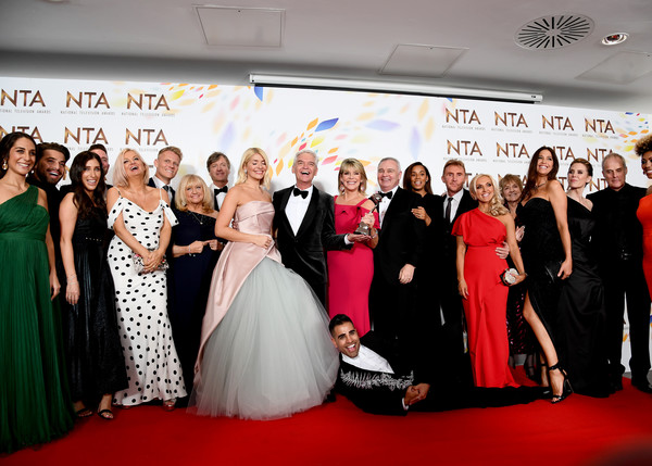 National Television Awards 2020 - Winners Room [this morning,red carpet,facial expression,event,dress,carpet,red,gown,formal wear,premiere,skin,ranj singh,holly willoughby,cast,phillip schofield,lisa snowdon,rochelle humes,room,winners room,national television awards,holly willoughby,eamonn holmes,ruth langsford,phillip schofield,national television awards,rochelle humes,image,photography,television]
