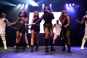 (EXCLUSIVE COVERAGE)  Leigh-Anne Pinnock, Perrie Edwards, Jesy Nelson and Jade Thirlwall from Little Mix perform for KISS FM at The KISS Secret Sessions gig on July 10, 2015 in London, England.