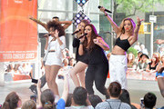 """(L-R) Leigh-Anne Pinnock, Perrie Edwards,  Jesy Nelson and Jade Thirlwall of """"Little Mix"""" perform on NBC's """"Today"""" show on June 17, 2014 in New York, New York."""