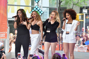 """(L-R)  Jesy Nelson, Jade Thirlwall, Perrie Edwards and Leigh-Anne Pinnock of """"Little Mix"""" perform on NBC's """"Today"""" show on June 17, 2014 in New York, New York."""