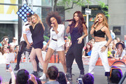 """(L-R) Perrie Edwards, Jesy Nelson, Leigh-Anne Pinnock and Jade Thirlwall of """"Little Mix"""" perform on NBC's """"Today"""" show on June 17, 2014 in New York, New York."""