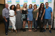 """Leigh-Anne Pinnock, Perrie Edwards, Jade Thirlwall and Jesy Nelson of Little Mix visit the """"The Elvis Duran Z100 Morning Show""""  with Elvis Duran, Bethany Watson, Danielle Monaro and Skeery Jones at Z100 Studio on August 20, 2015 in New York City."""