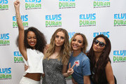 """Leigh-Anne Pinnock, Perrie Edwards, Jade Thirlwall and Jesy Nelson of Little Mix visit the """"The Elvis Duran Z100 Morning Show"""" at Z100 Studio on August 20, 2015 in New York City."""