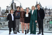 (L-R) Amy Pascal, Timothee Chalamet, Saoirse Ronan, Florence Pugh, Greta Gerwig and James Norton attend the Little Women London photocall at The Corinthia Hotel on December 16, 2019 in London, England. Little Women releases in UK cinemas on 26th December.