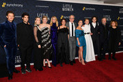 "(L-R) Hadley Robinson, James Norton, Louis Garrel, Saoirse Ronan, Laura Dern, Emma Watson, Tracy Letts, Florence Pugh, Eliza Scanlen, Bill Pullman and producer Amy Pascal attend the ""Little Women"" World Premiere at Museum of Modern Art on December 07, 2019 in New York City."