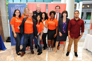 Helen Irving, John J Flanagan and Boomer Esiason attend the 2017 Organ Donor Enrollment Day lead by LiveOnNY at Brookfield Place on October 4, 2017 in New York City.