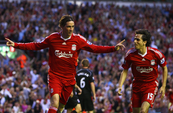 Fernando+Torres in Liverpool v Stoke City - Premier League