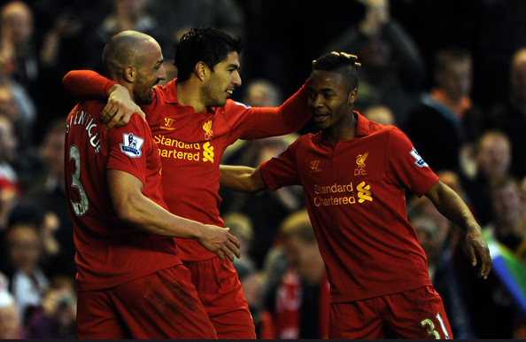 Luis Suarez and Raheem Sterling