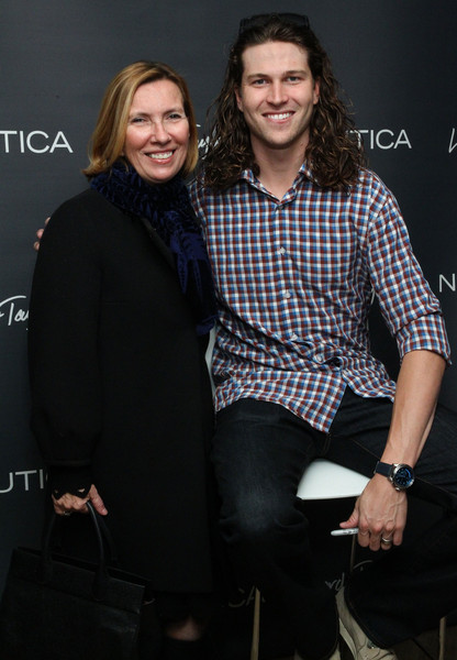 Guys Night Out at Lord & Taylor [fashion,event,outerwear,premiere,fashion design,long hair,performance,style,guys night out,jacob degrom,president,liz rodbell,l-r,new york city,lord taylor,new york mets]