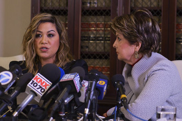 Lizzette Martinez Gloria Allred Holds Press Conference With Alleged Underage Victim Of R. Kelly