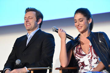 Lizzy Caplan Michael Sheen Screening Of Showtime And Sony Pictures Television's 'Masters Of Sex' - Inside