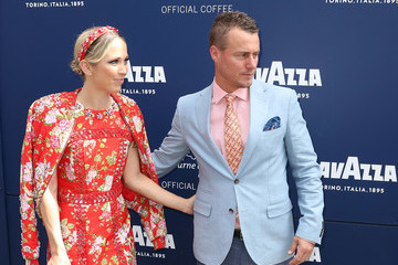 Lleyton Hewitt Celebrities Attend Melbourne Cup Day