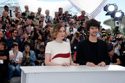 "Actors Ben Whishaw and Angeliki Papoulia attend a photocall for ""The Lobster"" during the 68th annual Cannes Film Festival on May 15, 2015 in Cannes, France."
