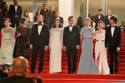 "Angeliki Papoulia,Ariane Labed,Yorgos Lanthimos,Rachel Weisz,Colin Farell,Lea Seydoux,Jessica Barden and Ben Whishaw attend the Premiere of ""The Lobster"" during the 68th annual Cannes Film Festival on May 15, 2015 in Cannes, France."