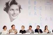 "(L-R) Actress Angeliki Papoulia, actor John C. Reilly, actress Lea Seydoux, actor Colin Farrell, director Yorgos Lanthimos, and actress Rachel Weisz attend the ""The Lobster"" press Conference during the 68th annual Cannes Film Festival on May 15, 2015 in Cannes, France."