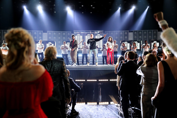 60th Annual GRAMMY Awards - Roaming Show [performance,entertainment,event,stage,performing arts,concert,public event,performance art,music,music artist,artists,alessia cara,khalid logic,l-r,new york city,madison square garden,grammy awards - roaming show,annual grammy awards]
