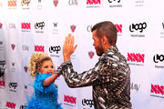 """Televison Personality Perez Hilton and Eden Wood attend Logo's """"NewNowNext Awards"""" 2012 at Avalon on April 5, 2012 in Hollywood, California."""